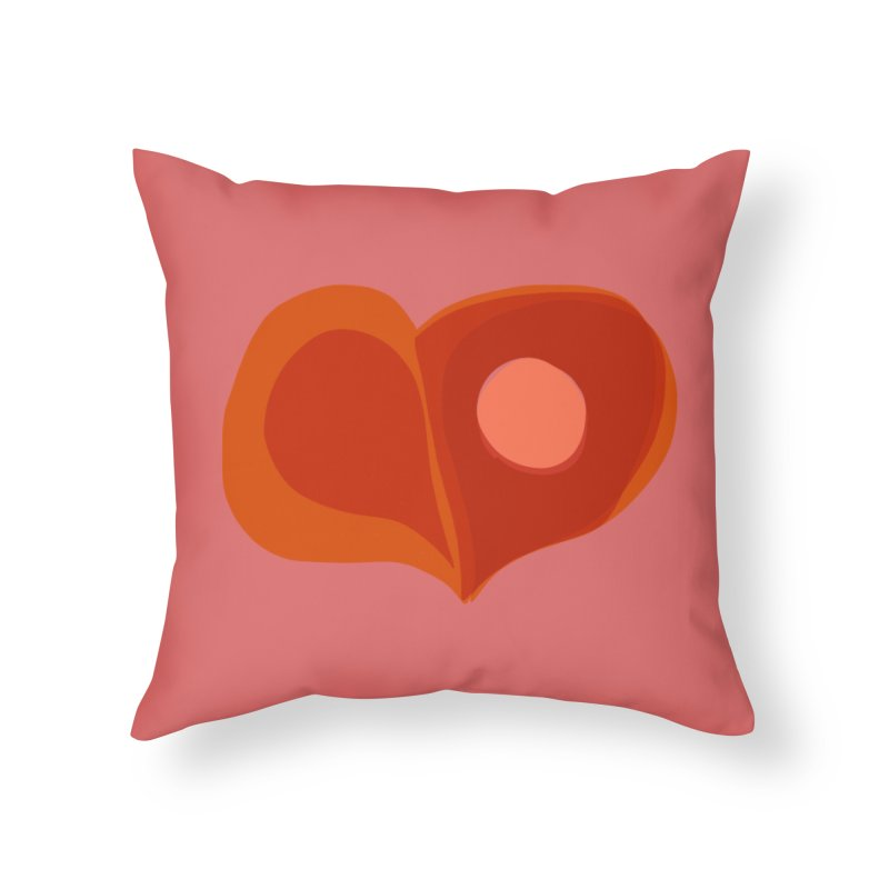 Hole in the Heart in Throw Pillow by Michael Pfleghaar