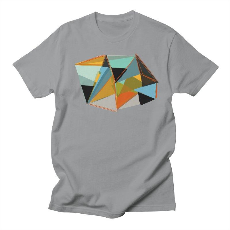 Reflector 1 in Men's Regular T-Shirt Slate by Michael Pfleghaar