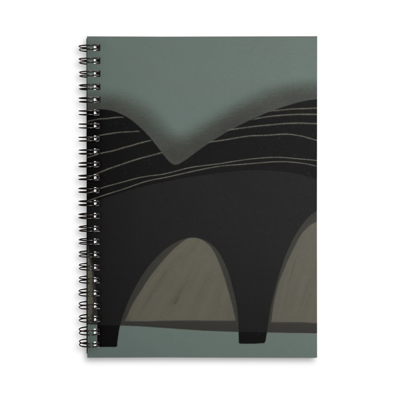 Mountains Accessories Lined Spiral Notebook by Michael Pfleghaar