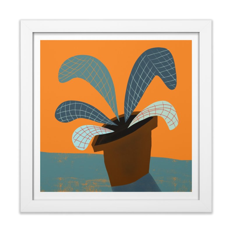 Grid Plant 1 in Framed Fine Art Print White by Michael Pfleghaar