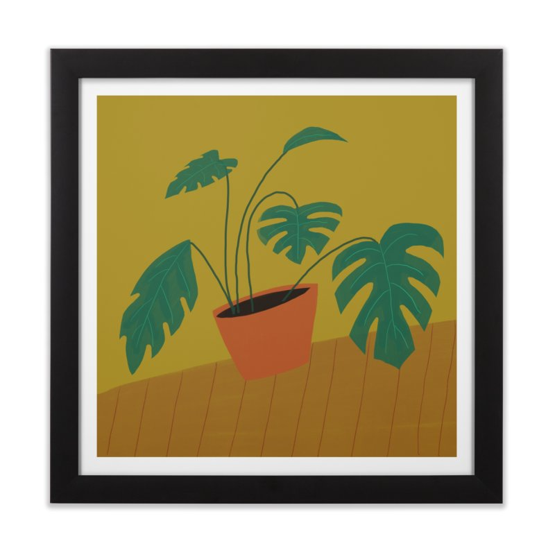 Split Leaf Philodendron Home Framed Fine Art Print by Michael Pfleghaar