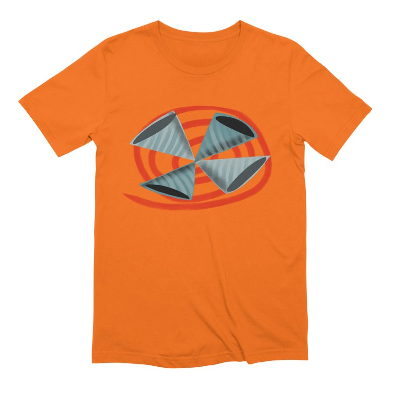 Trumpets 2 in Men's Extra Soft T-Shirt Bright Orange by Michael Pfleghaar