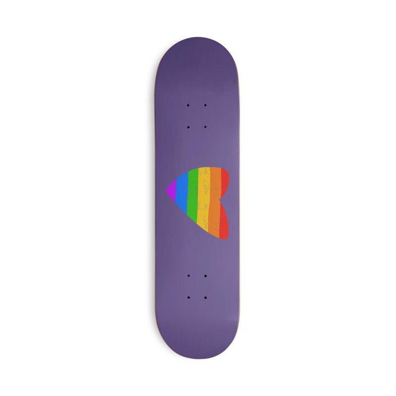 Vintage Pride Heart Accessories Deck Only Skateboard by Michael Pfleghaar