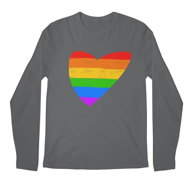 Vintage Pride Heart in Men's Regular Longsleeve T-Shirt Heavy Metal by Michael Pfleghaar