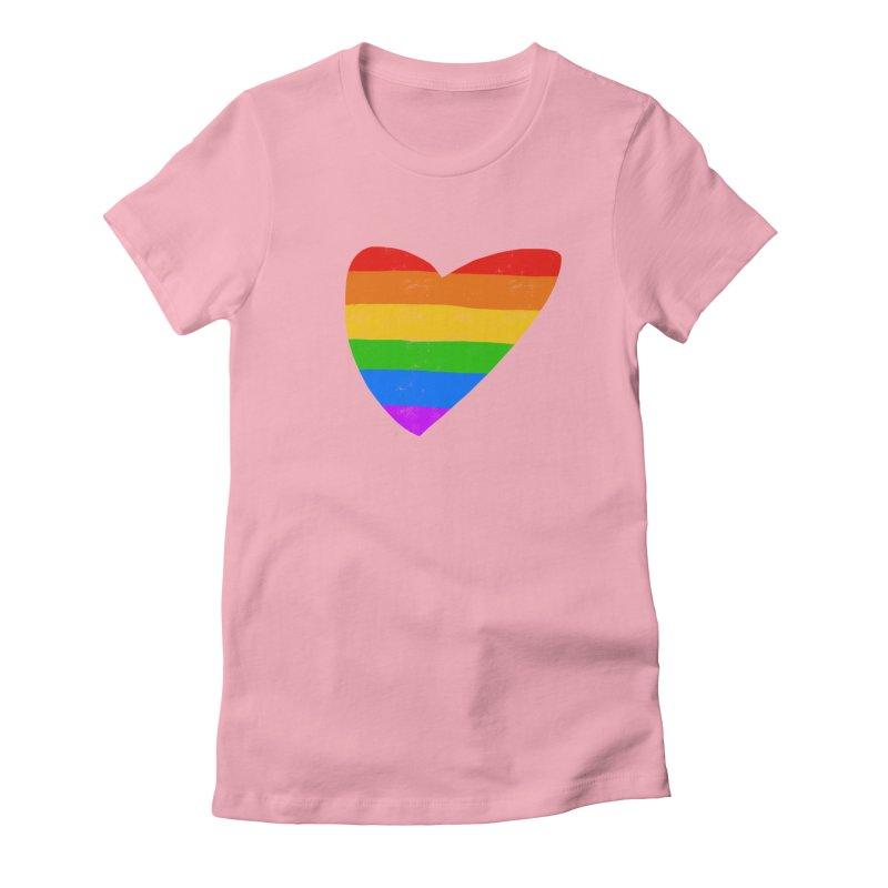 Vintage Pride Heart in Women's Fitted T-Shirt Light Pink by Michael Pfleghaar