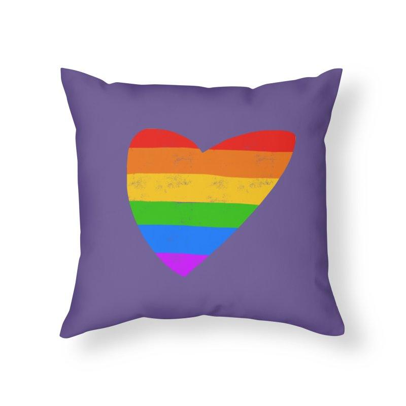 Vintage Pride Heart in Throw Pillow by Michael Pfleghaar