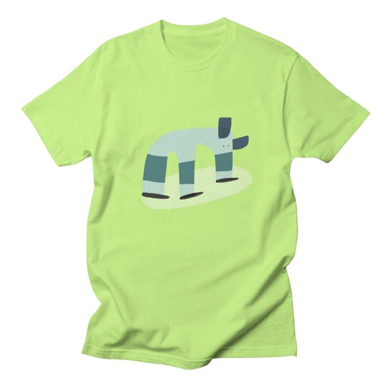 Elephant in Men's T-Shirt Neon Green by Michael Pfleghaar