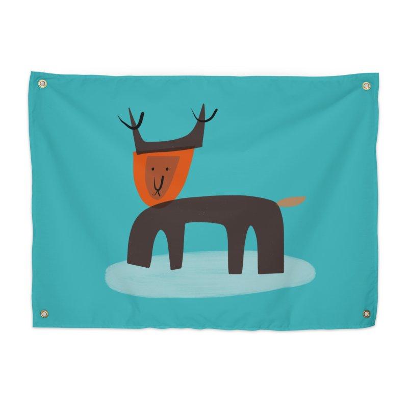 Dear Deer Home Tapestry by Michael Pfleghaar