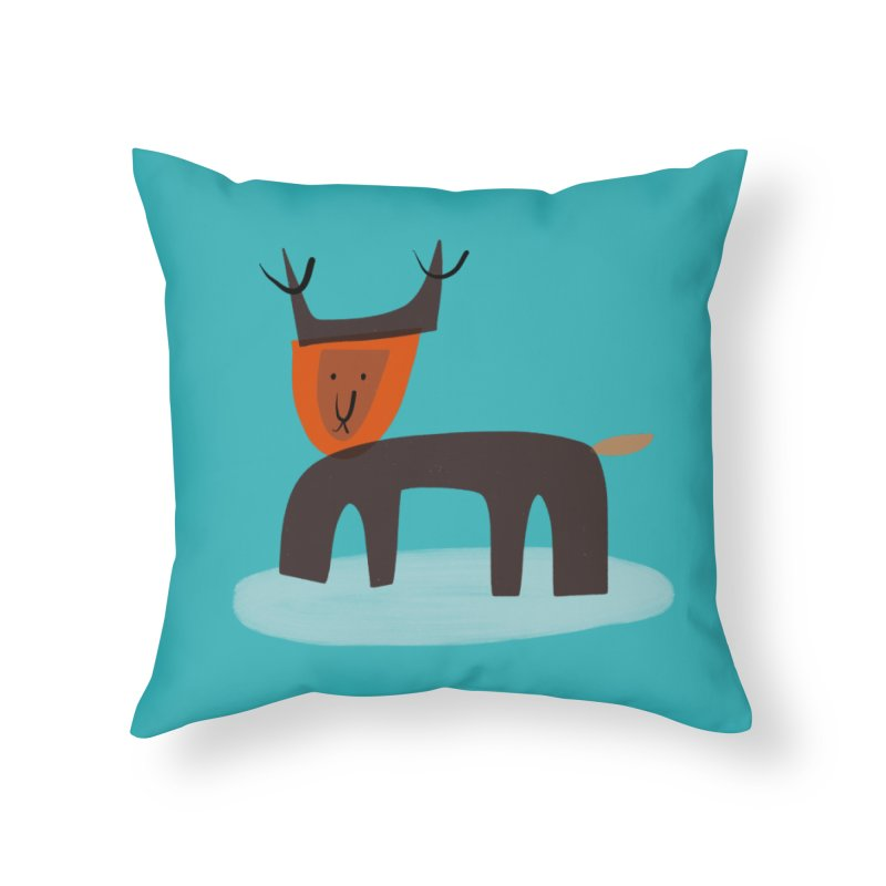 Dear Deer in Throw Pillow by Michael Pfleghaar