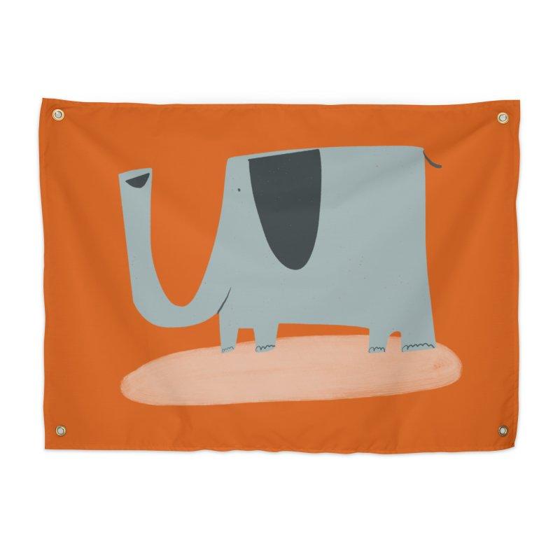 Elephant 2 Home Tapestry by Michael Pfleghaar