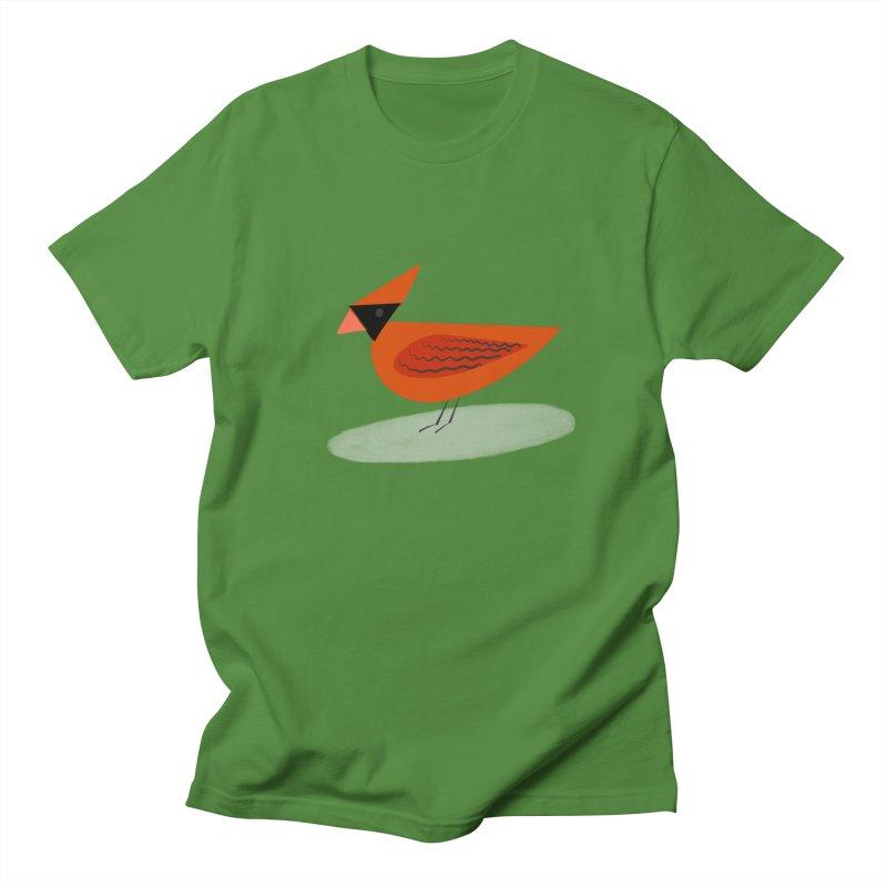 Cardinal in Men's T-Shirt Clover by Michael Pfleghaar