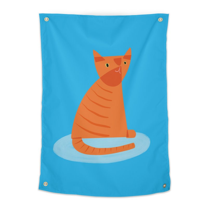 Kit Cat Home Tapestry by Michael Pfleghaar
