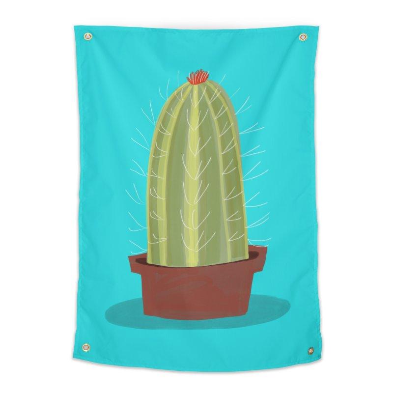 Barrel Cactus Home Tapestry by Michael Pfleghaar