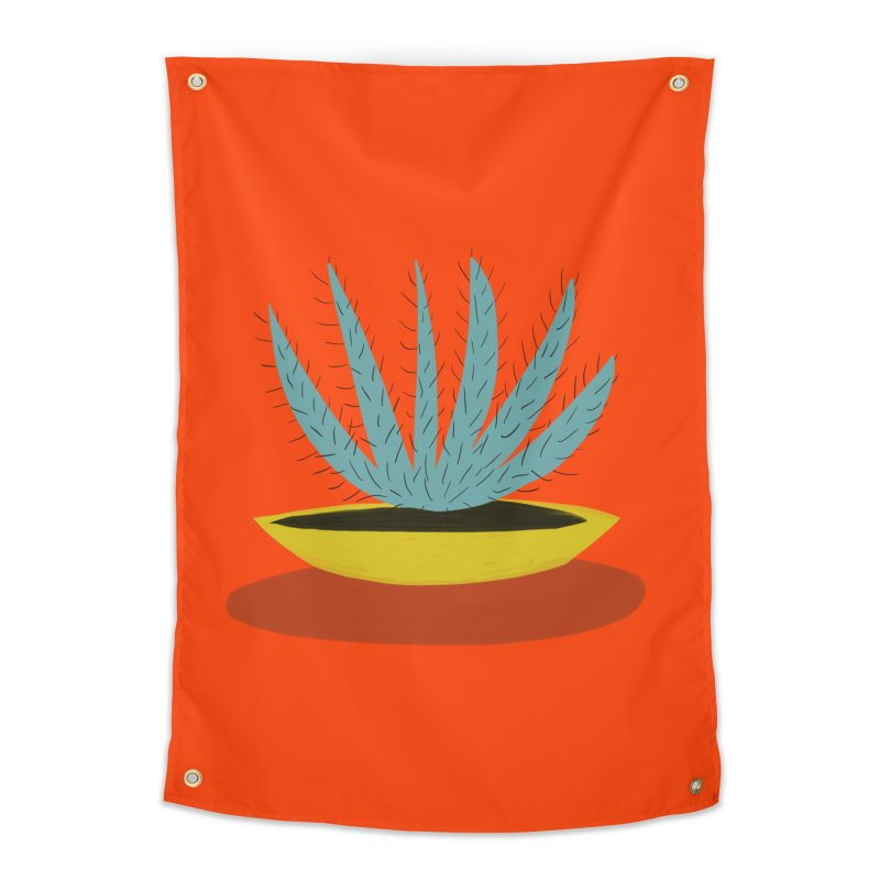 Lotus Cactus Home Tapestry by Michael Pfleghaar