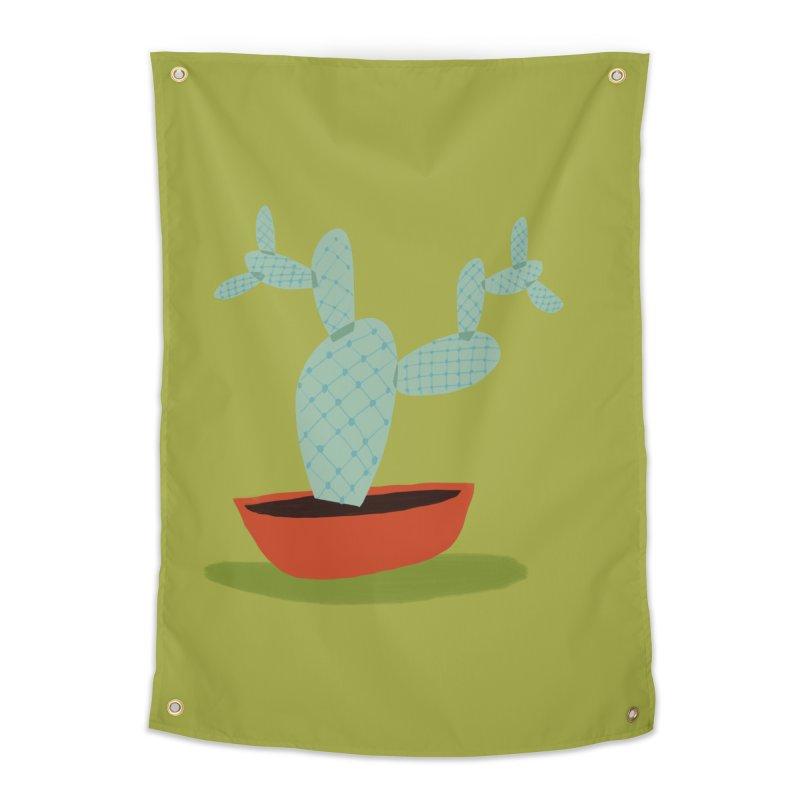 Paddle Cactus Home Tapestry by Michael Pfleghaar