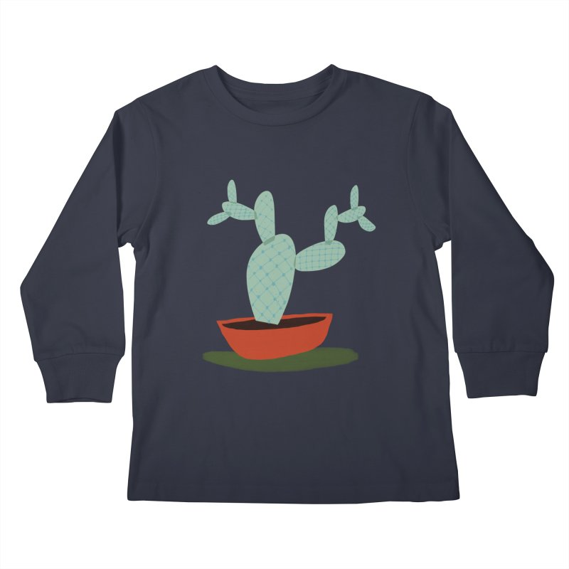 Paddle Cactus Kids Longsleeve T-Shirt by Michael Pfleghaar
