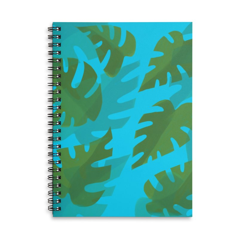 Philodendron Field Accessories Lined Spiral Notebook by Michael Pfleghaar