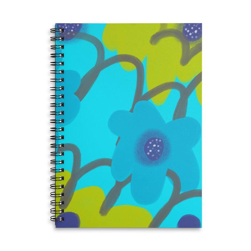 Big Blooms Accessories Lined Spiral Notebook by Michael Pfleghaar