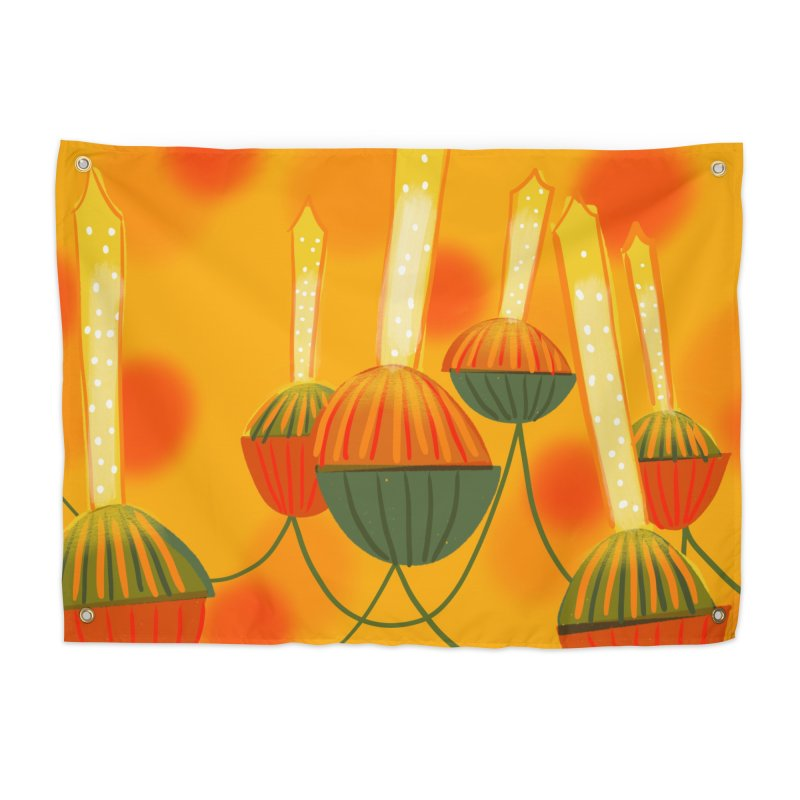 Vintage Christmas Bubble Lights Home Tapestry by Michael Pfleghaar