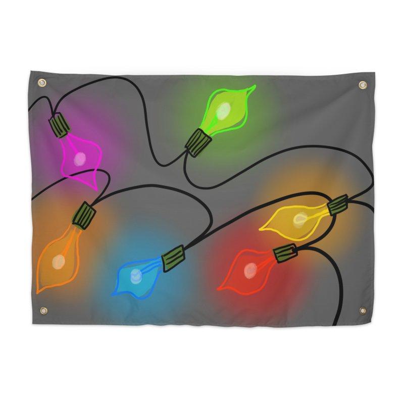 Vintage Christmas Tree Lights Home Tapestry by Michael Pfleghaar