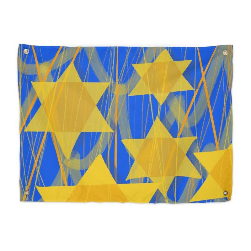 Hanukkah Star of David Home Tapestry by Michael Pfleghaar