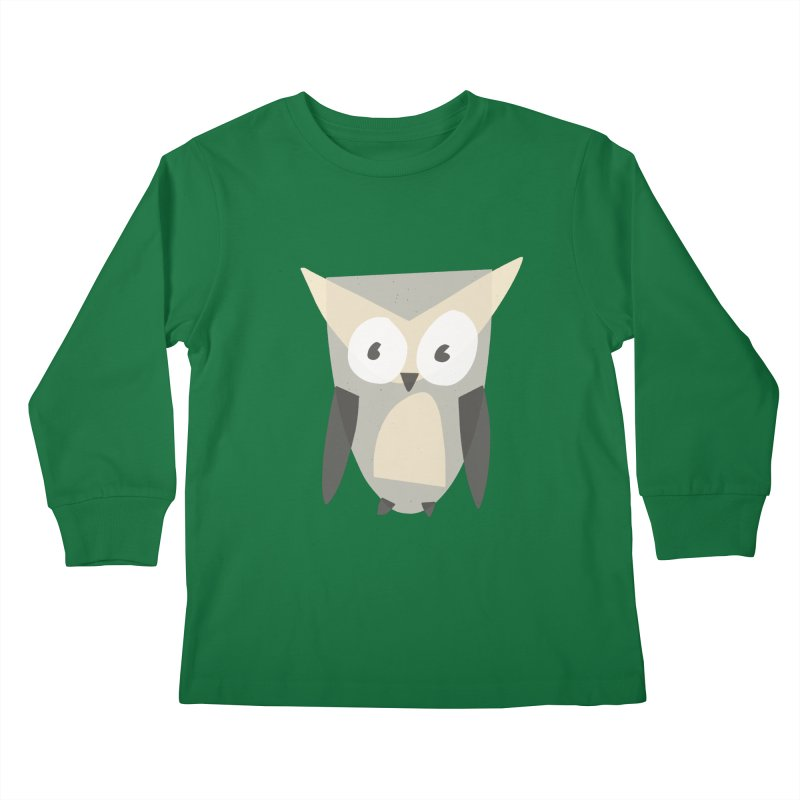 Owl Kids Longsleeve T-Shirt by Michael Pfleghaar
