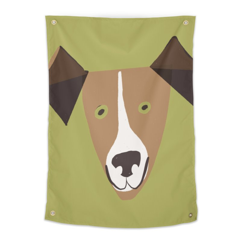 Dog Face 1 Home Tapestry by Michael Pfleghaar