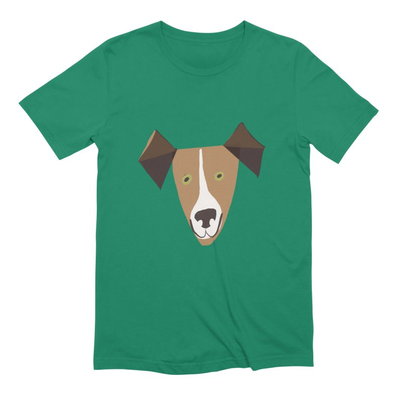 Dog Face 1 Men's Extra Soft T-Shirt by Michael Pfleghaar