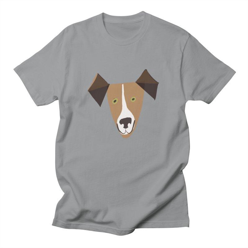 Dog Face 1 Men's Regular T-Shirt by Michael Pfleghaar