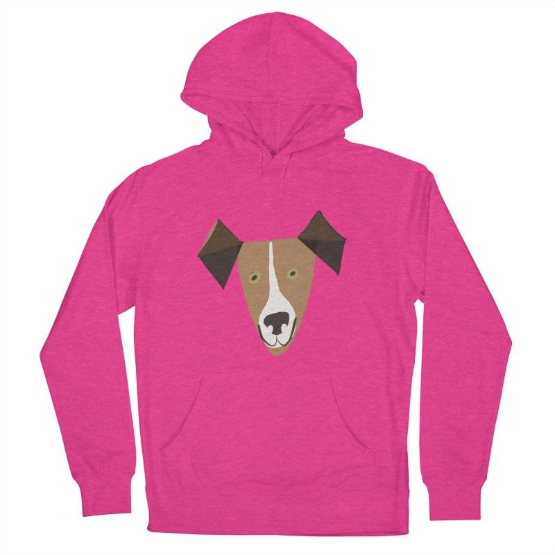 Dog Face 1 Women's French Terry Pullover Hoody by Michael Pfleghaar