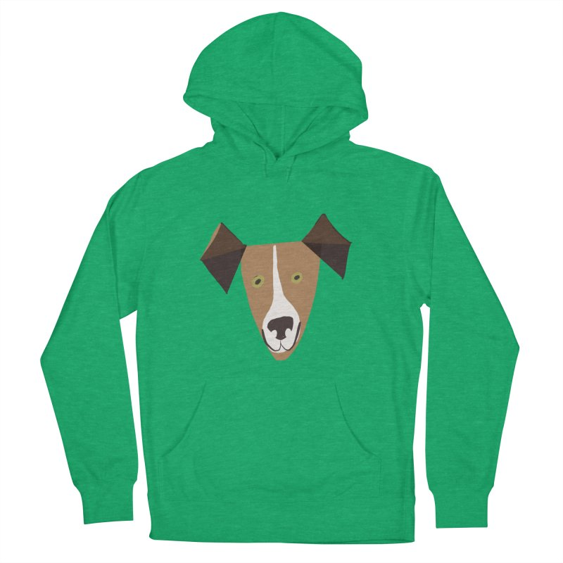 Dog Face 1 Men's French Terry Pullover Hoody by Michael Pfleghaar