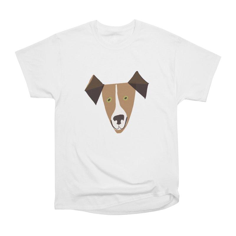 Dog Face 1 Men's Heavyweight T-Shirt by Michael Pfleghaar