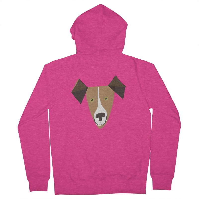 Dog Face 1 Women's French Terry Zip-Up Hoody by Michael Pfleghaar