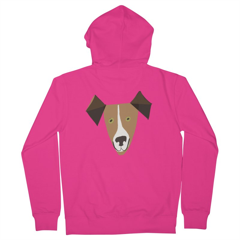 Dog Face 1 Men's French Terry Zip-Up Hoody by Michael Pfleghaar