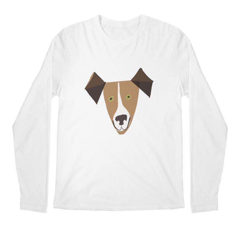 Dog Face 1 Men's Regular Longsleeve T-Shirt by Michael Pfleghaar