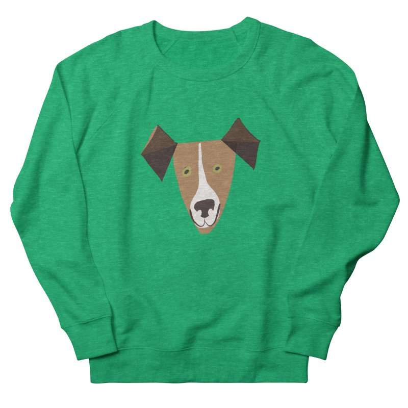 Dog Face 1 Women's French Terry Sweatshirt by Michael Pfleghaar
