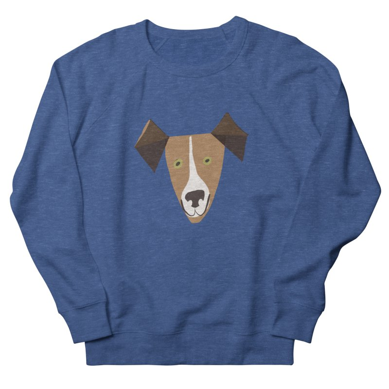 Dog Face 1 Men's French Terry Sweatshirt by Michael Pfleghaar
