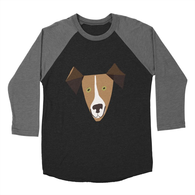 Dog Face 1 Men's Baseball Triblend Longsleeve T-Shirt by Michael Pfleghaar