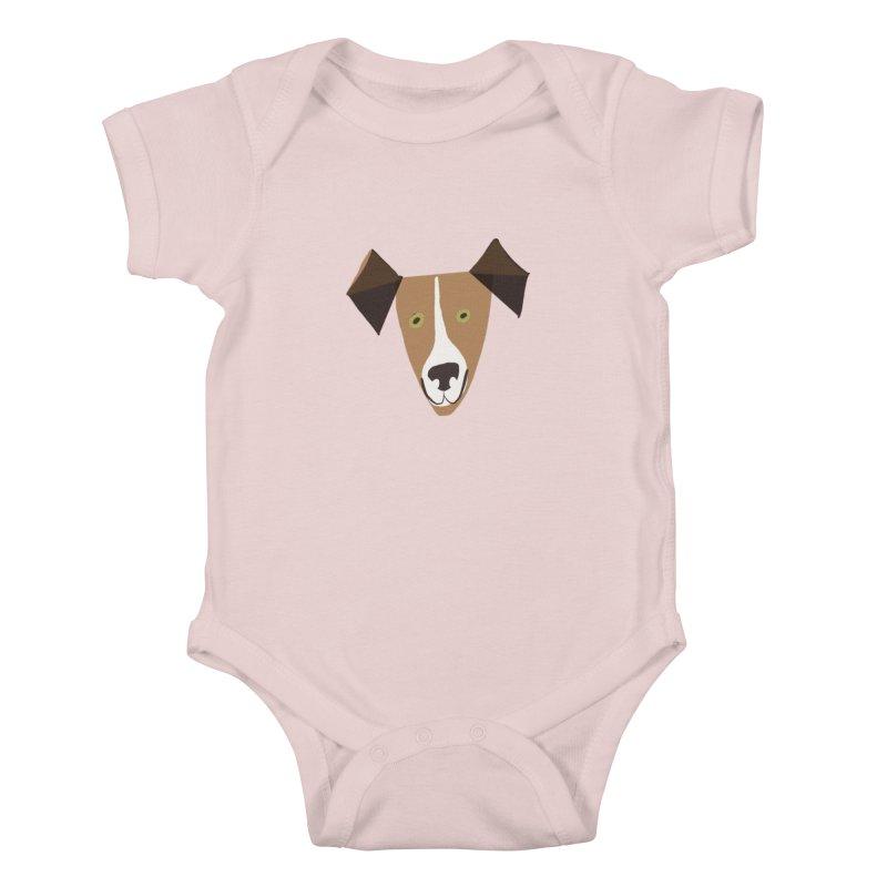 Dog Face 1 Kids Baby Bodysuit by Michael Pfleghaar