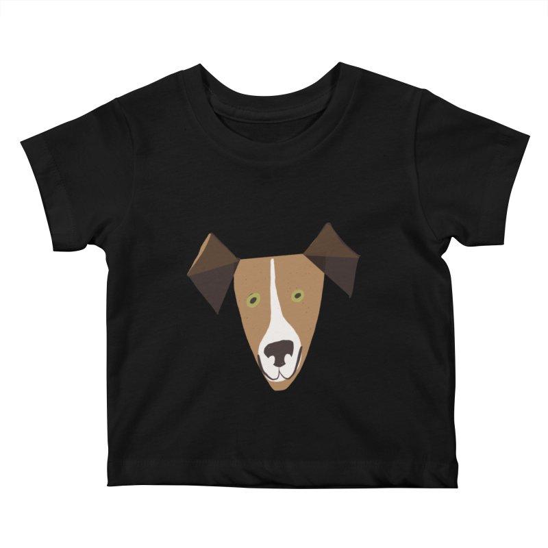 Dog Face 1 Kids Baby T-Shirt by Michael Pfleghaar