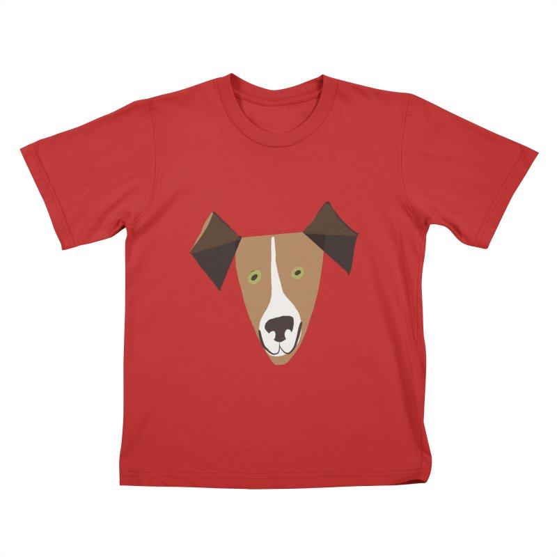 Dog Face 1 Kids T-Shirt by Michael Pfleghaar