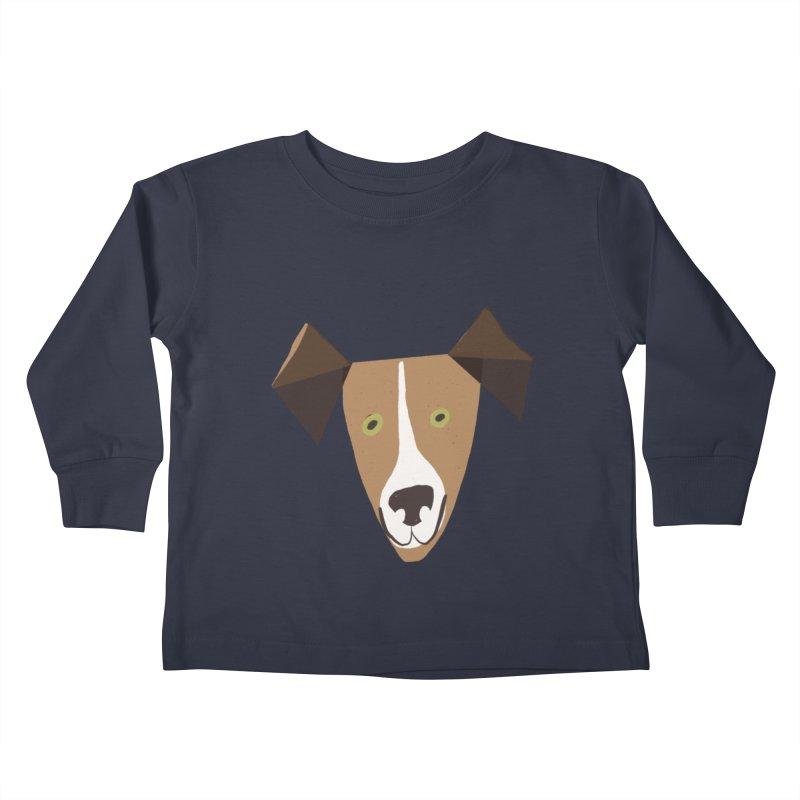 Dog Face 1 Kids Toddler Longsleeve T-Shirt by Michael Pfleghaar