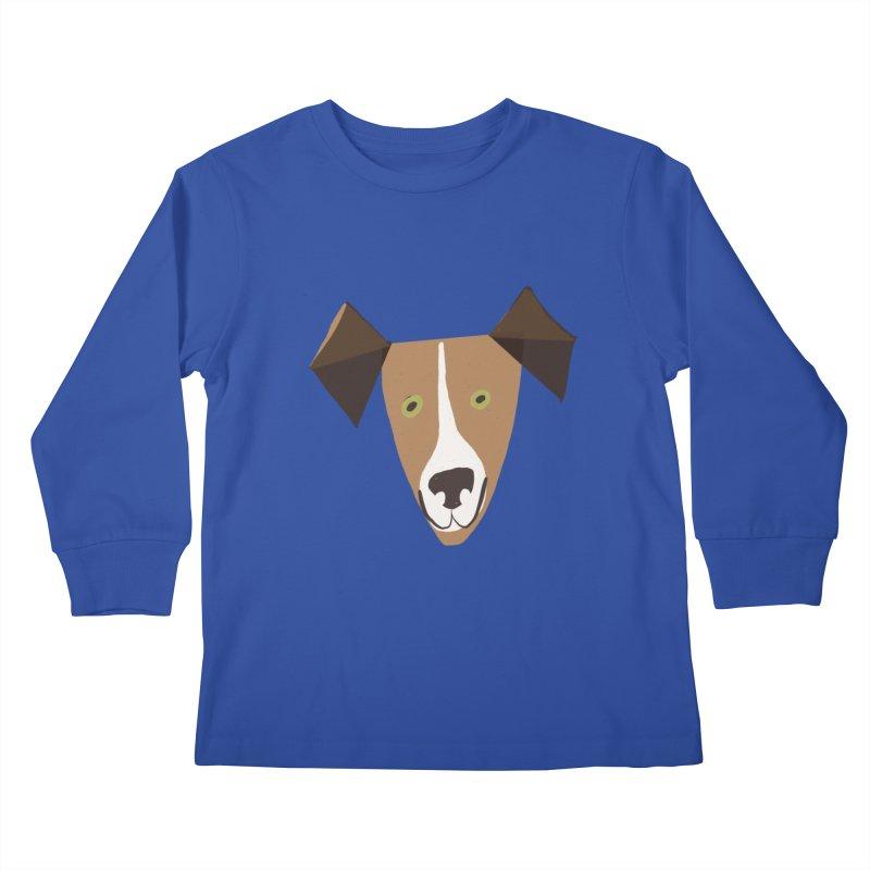 Dog Face 1 Kids Longsleeve T-Shirt by Michael Pfleghaar