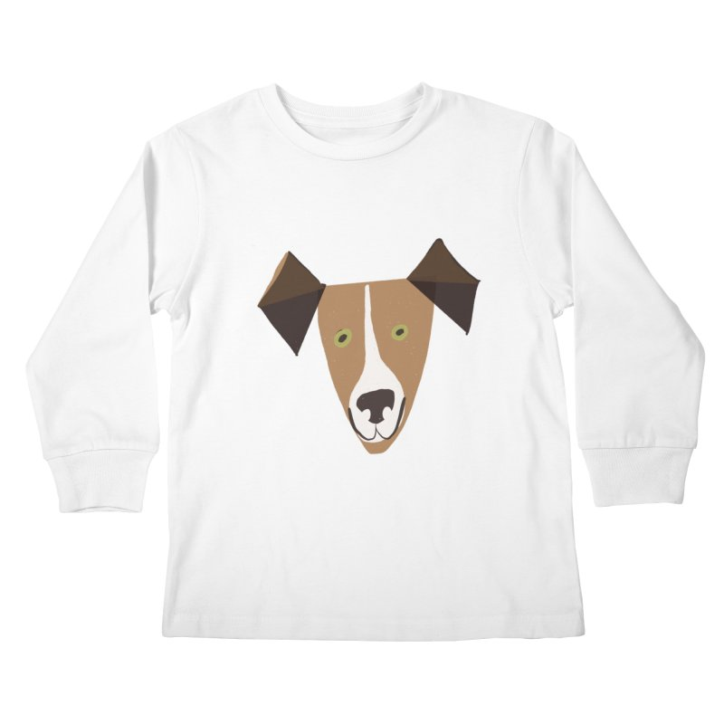 Dog Face 1 Kids Longsleeve T-Shirt by Michael Pfleghaar