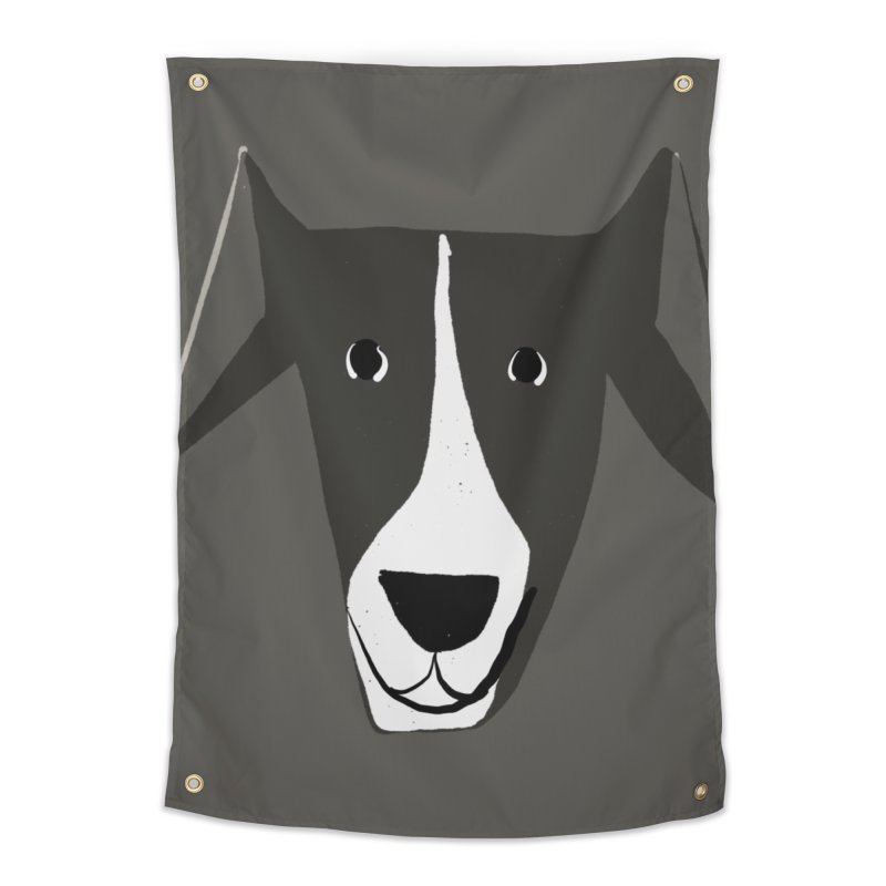Dog Face 2 Home Tapestry by Michael Pfleghaar