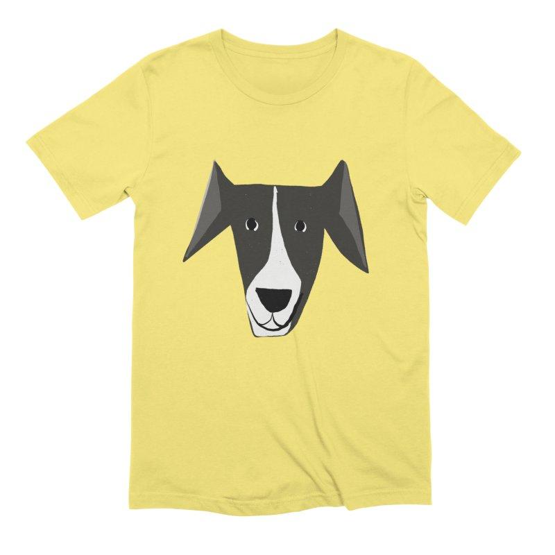 Dog Face 2 Men's Extra Soft T-Shirt by Michael Pfleghaar