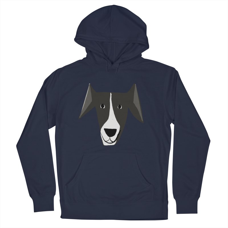 Dog Face 2 Men's French Terry Pullover Hoody by Michael Pfleghaar
