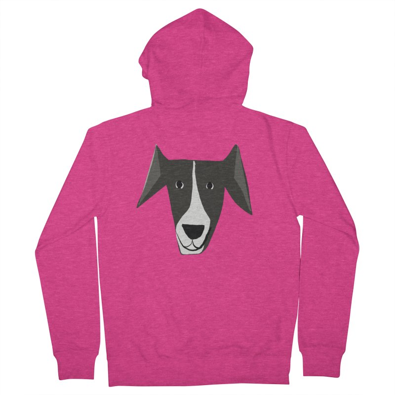 Dog Face 2 Women's French Terry Zip-Up Hoody by Michael Pfleghaar