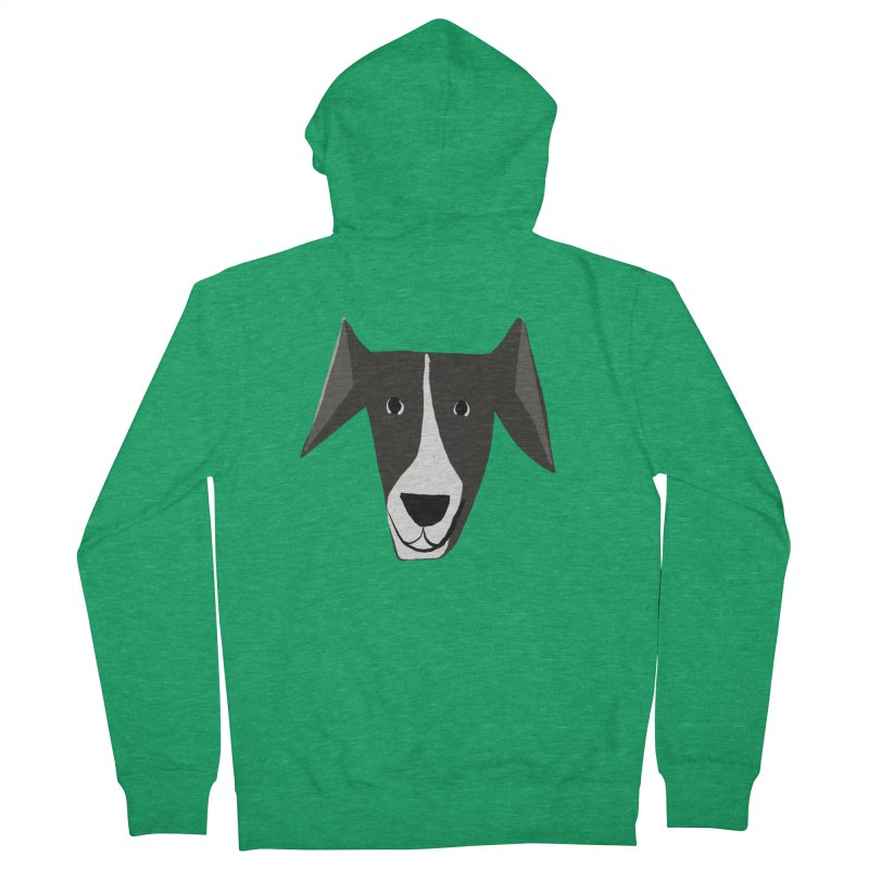 Dog Face 2 Men's French Terry Zip-Up Hoody by Michael Pfleghaar