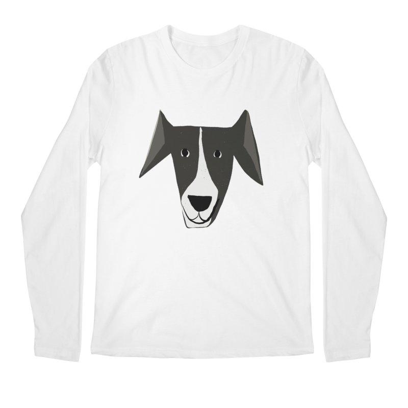 Dog Face 2 Men's Regular Longsleeve T-Shirt by Michael Pfleghaar